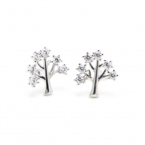 925 Silver  Ear Rings - Life tree