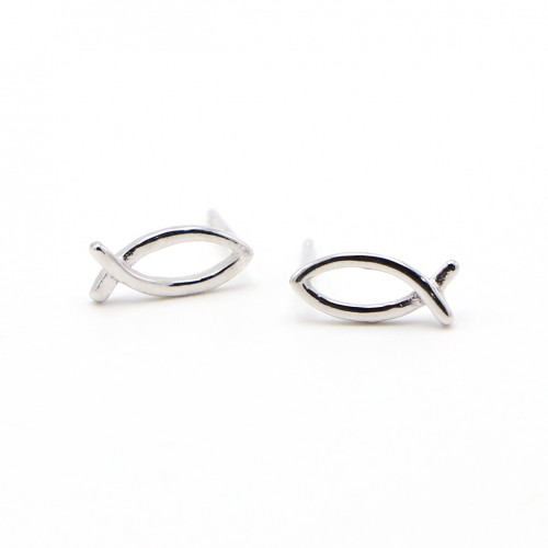 925 Silver Ear Rings - Fish