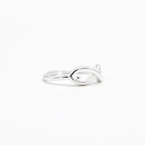 925純銀 小魚 戒指