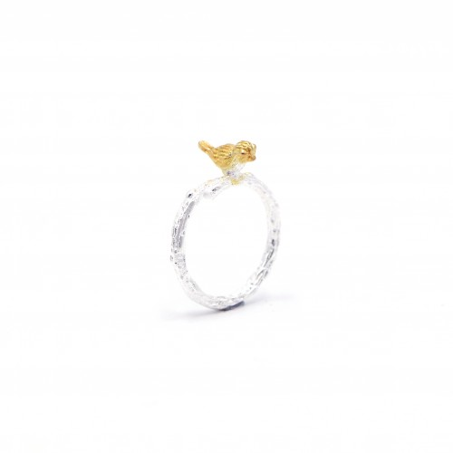 925 Silver Sparrow Ring - Gold color