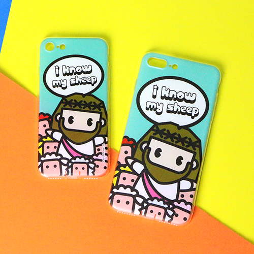 Mini Jesus Smartphone Case - MJ + color Sheep