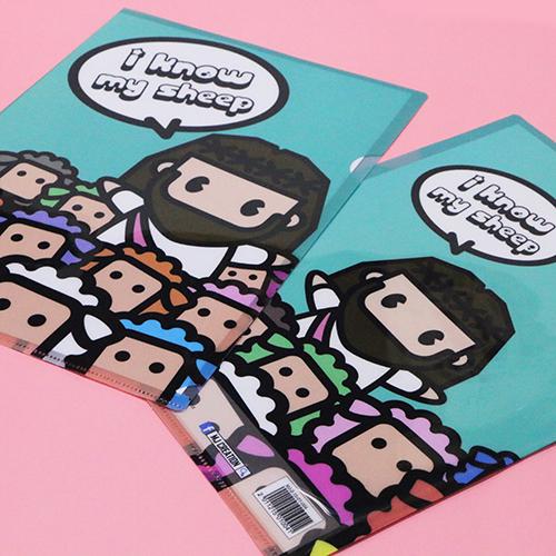 Mini Jesus A4 Folder (Green Lake)