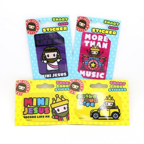 Mini Jesus Card Sticker