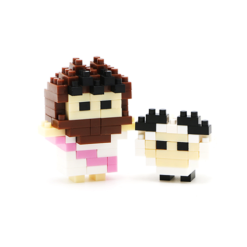 Mini Jesus With White Sheep Life Blocks