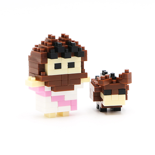 Mini Jesus With Brown Donkey Life Blocks