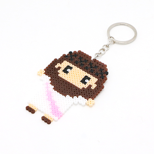 Mini Jesus 2.6mm Perler Beads (Finished Keychain)
