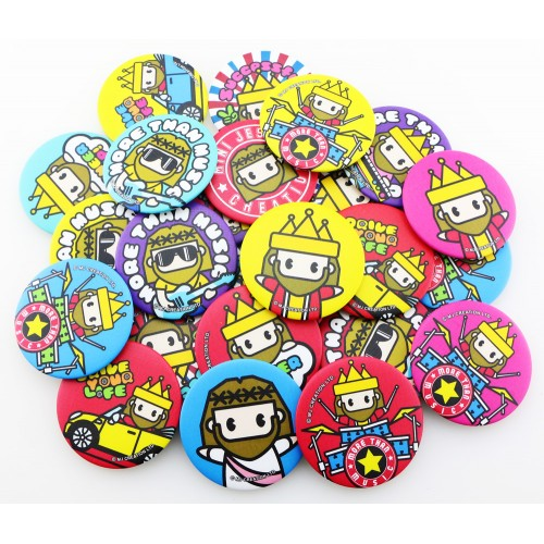 Mini Jesus Pin Badges