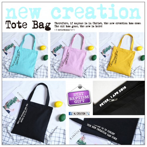 Tote Bag - New Creation + Personalized text