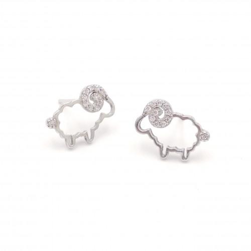 925 Silver Sheep Ear Rings