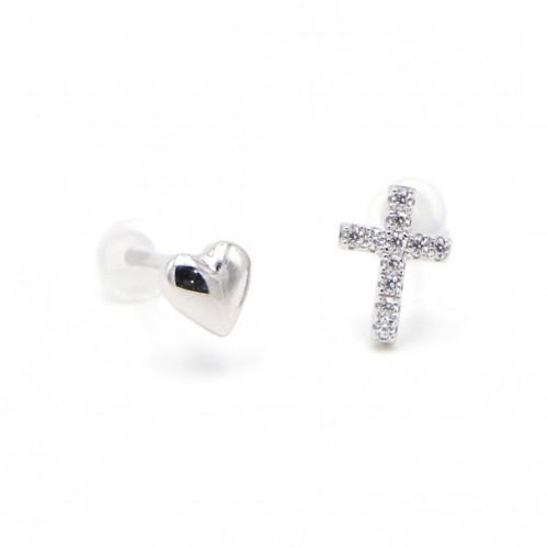 925 Silver Cross Ear Rings