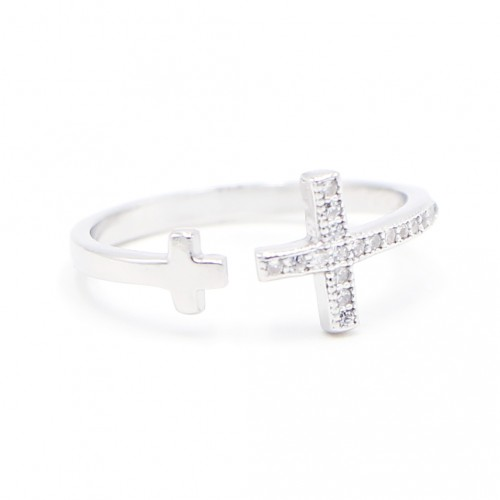 925 Silver Cross Ring