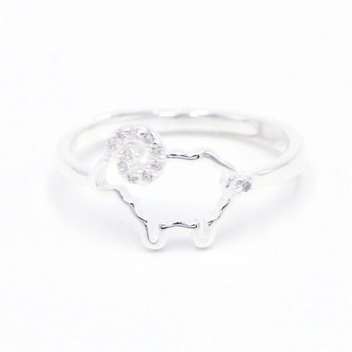 925 Silver Sheep Ring