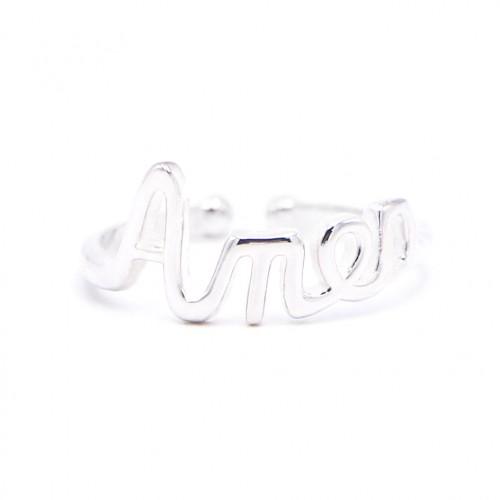 925 Silver Amen Ring