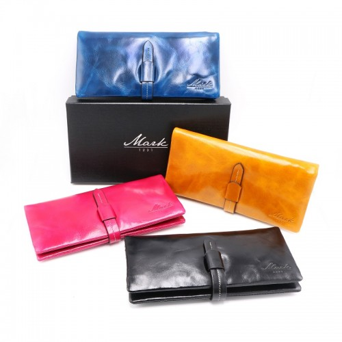 Leather Wallet (Head layer cowhide) Mark 11:23 Love Your Neighbor as Yourself